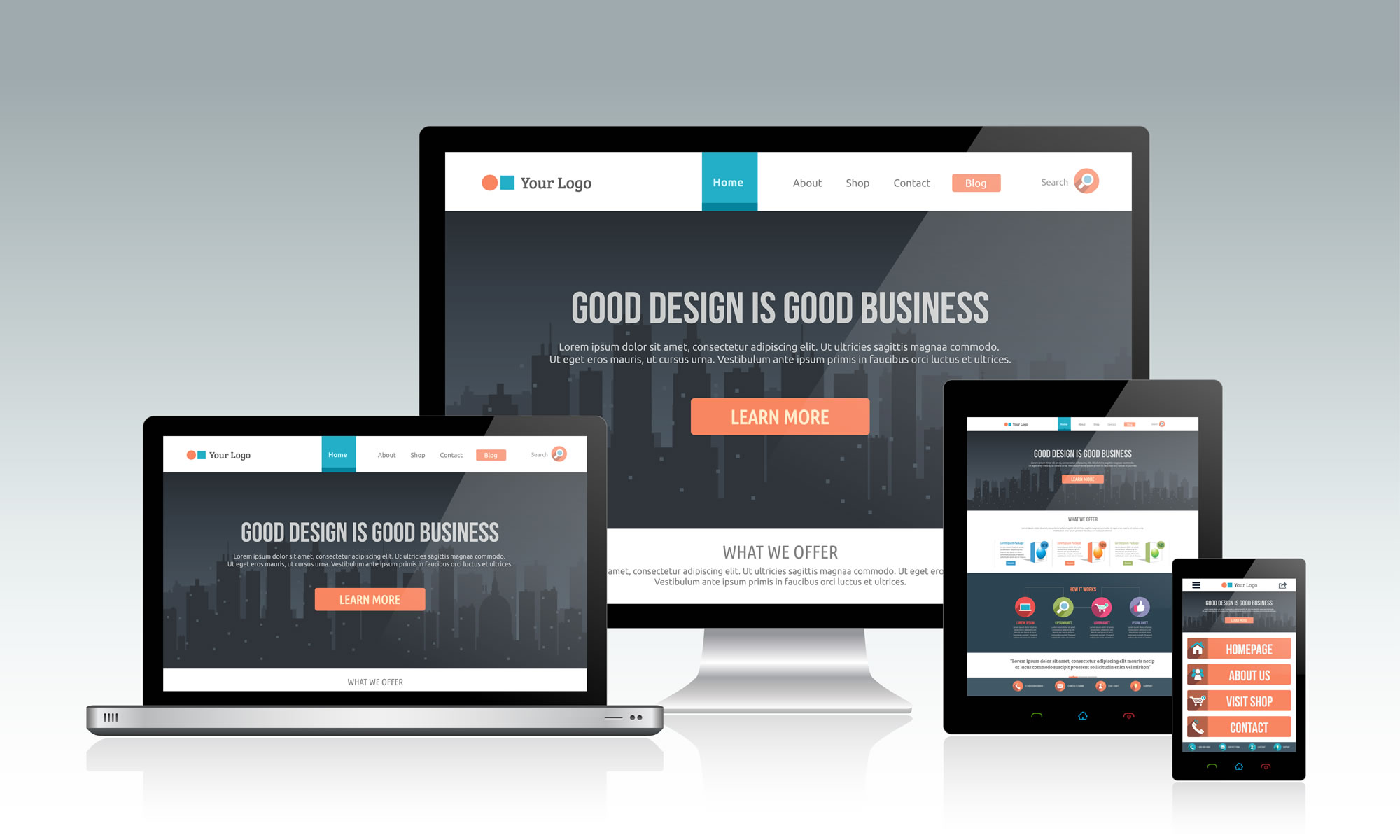 responsive websites slider